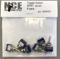 6 pack On/On SPST Toggle Switch